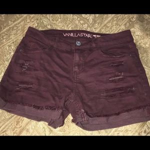 Mid rise shorts